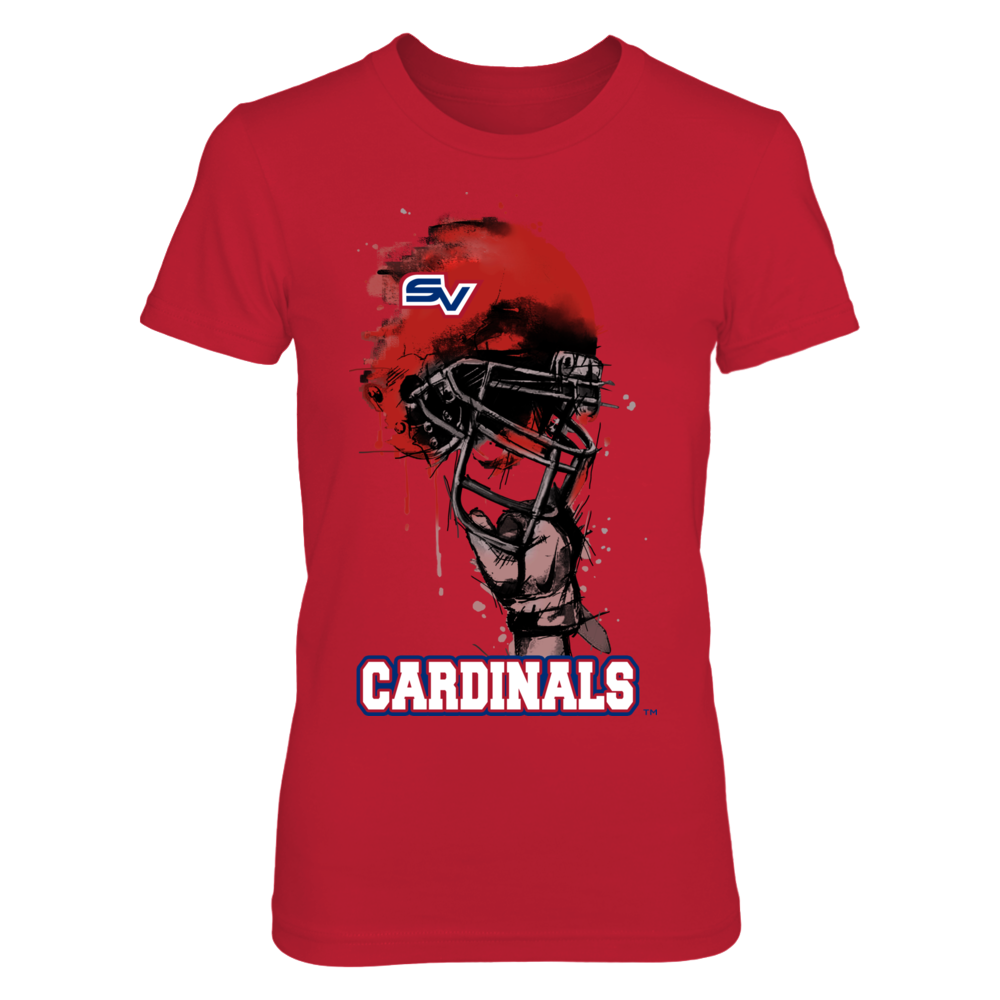 Saginaw Valley State Cardinals - Rising Helmet Front picture