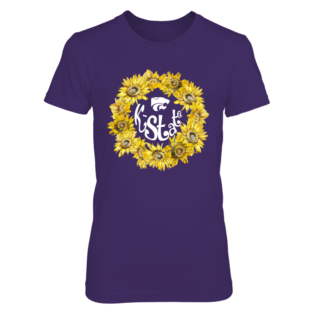 Kansas State Wildcats - Sunflower Wreath Front picture