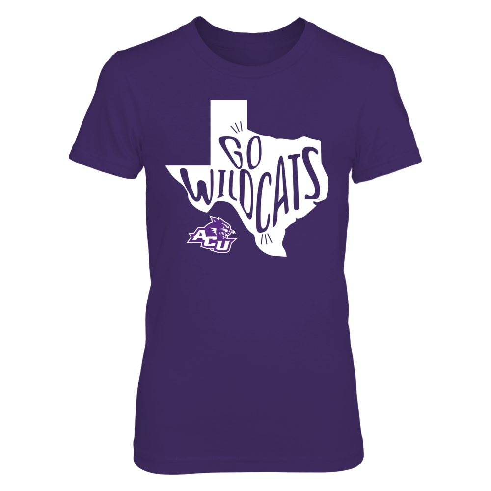Abilene Christian Wildcats - Slogan State Map Front picture