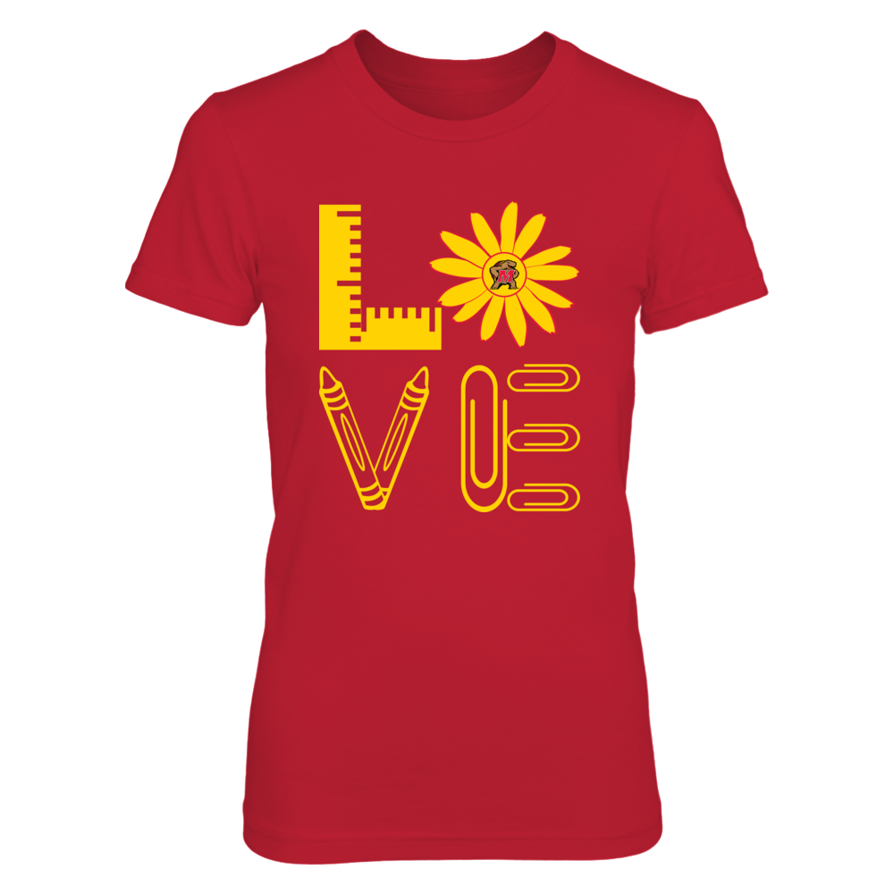 Maryland Terrapins - Stacked Love - State Flower - Teacher Things Front picture