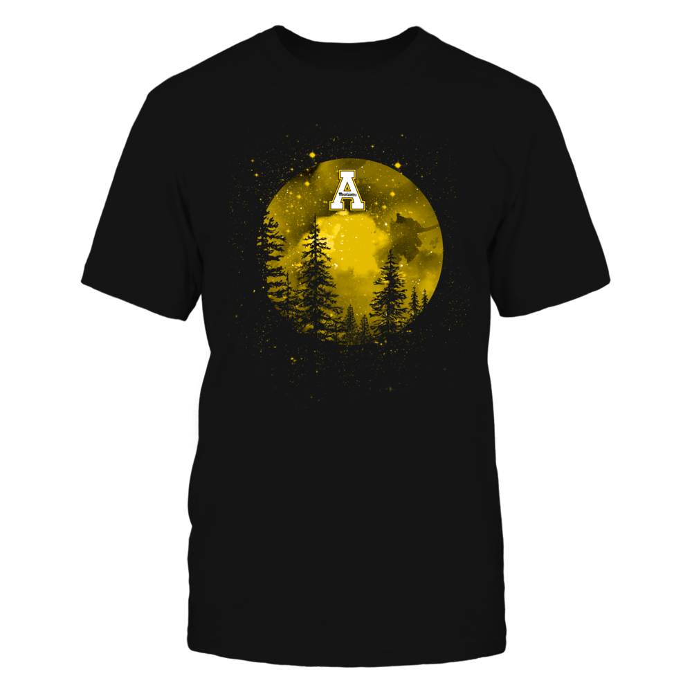 Appalachian State Mountaineers - Camping - Full Moon Above The Forest Front picture