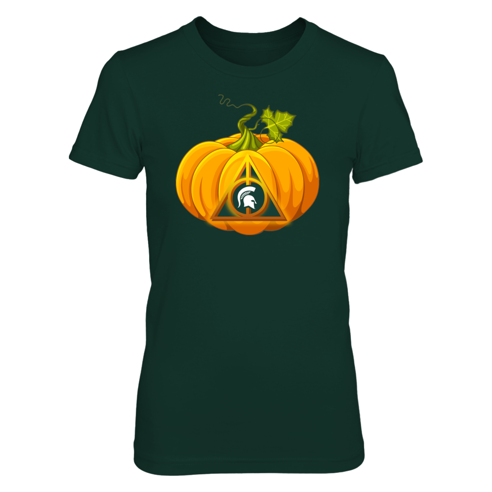 Michigan State Spartans - Halloween - HP - Deathly Hallow Pumkin Front picture