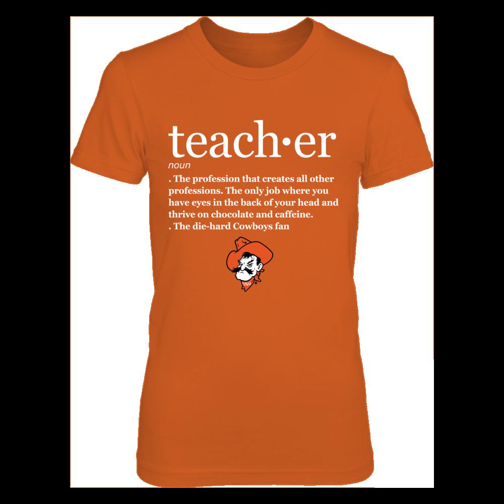 Oklahoma State Cowboys - Teacher Definition - Orange shirt Front picture