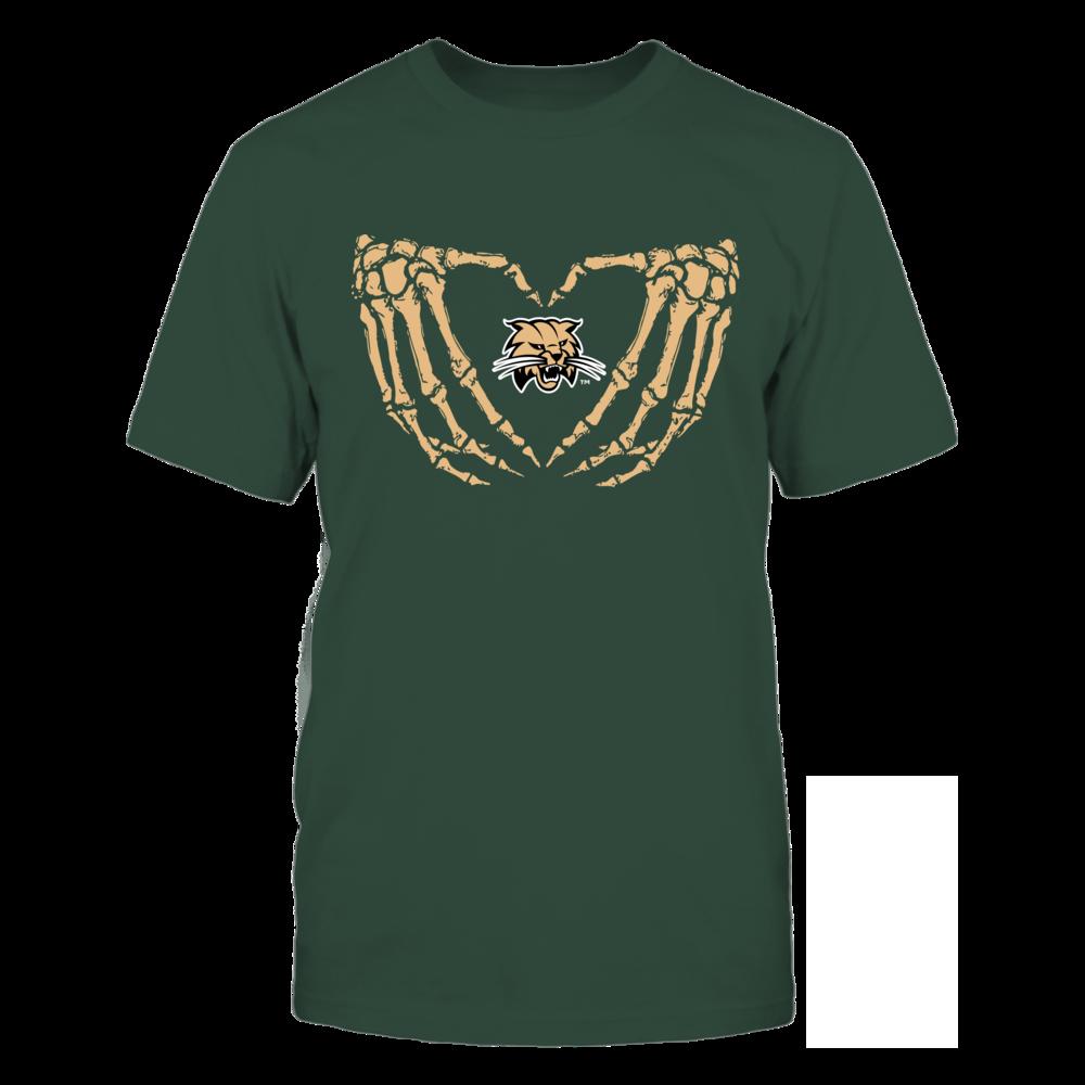 Ohio Bobcats - Halloween - Love Skeleton Heart Front picture