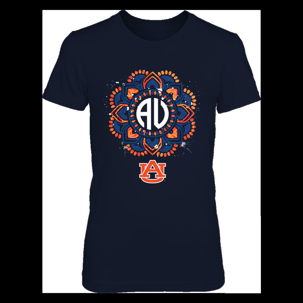 Auburn Tigers - Color Drop Mandala Monogram Front picture