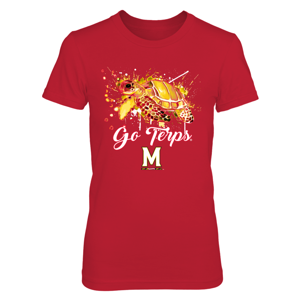 Maryland Terrapins - Color Drop Mascot - Turtle Front picture