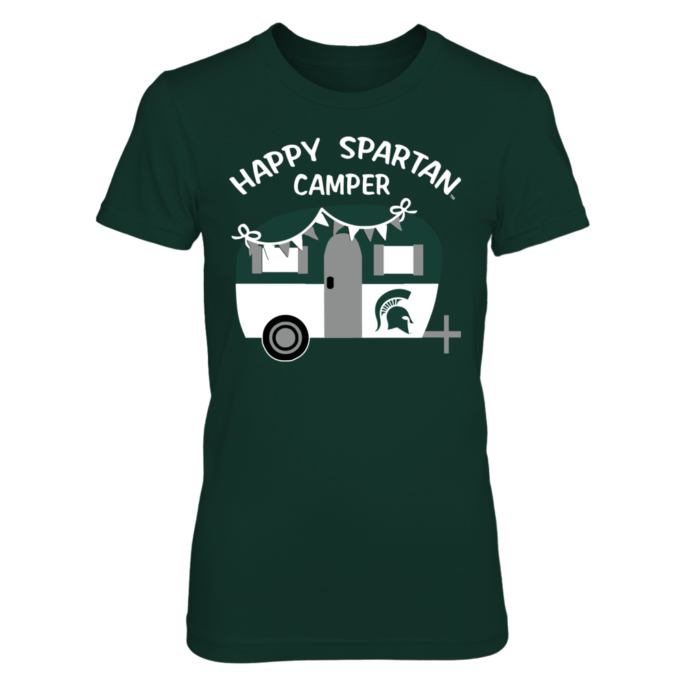 Michigan State Spartans - Camping  - Happy Camper - Team Front picture