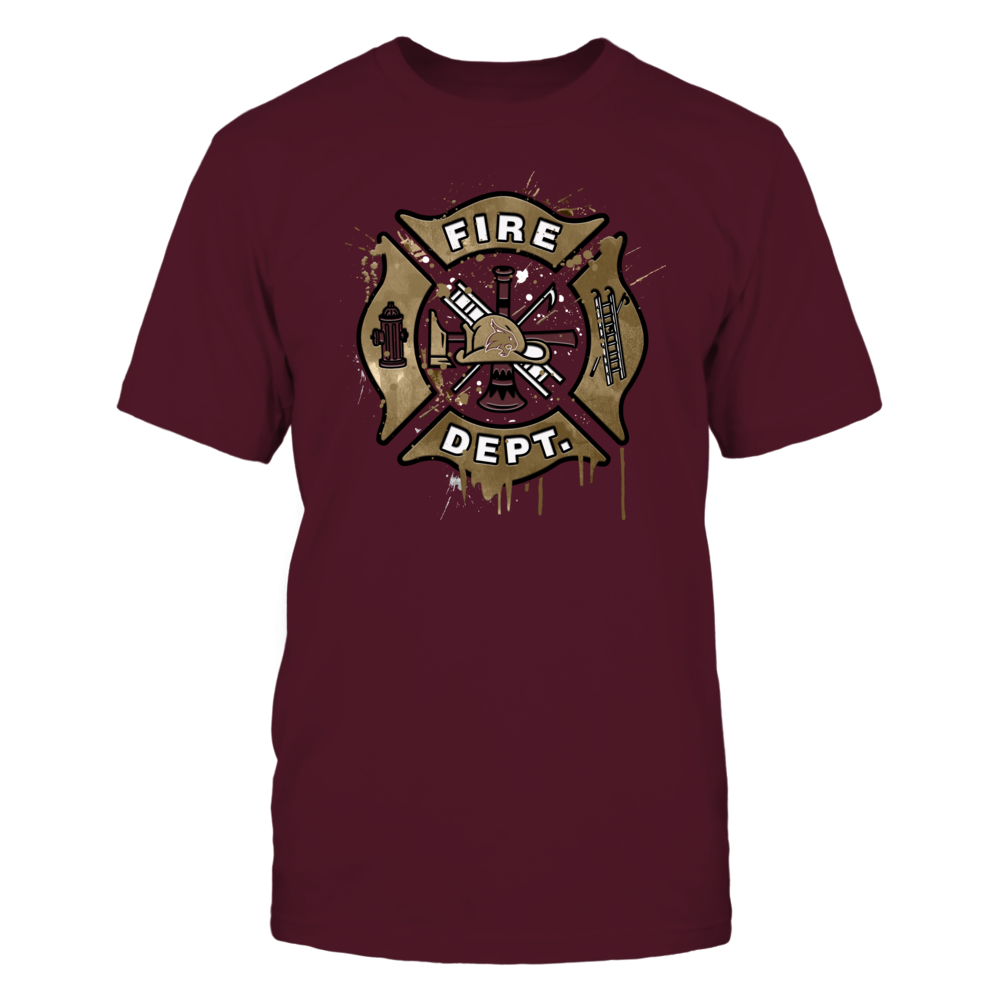Texas State Bobcats -  Color Drop Firefighter Symbol Front picture