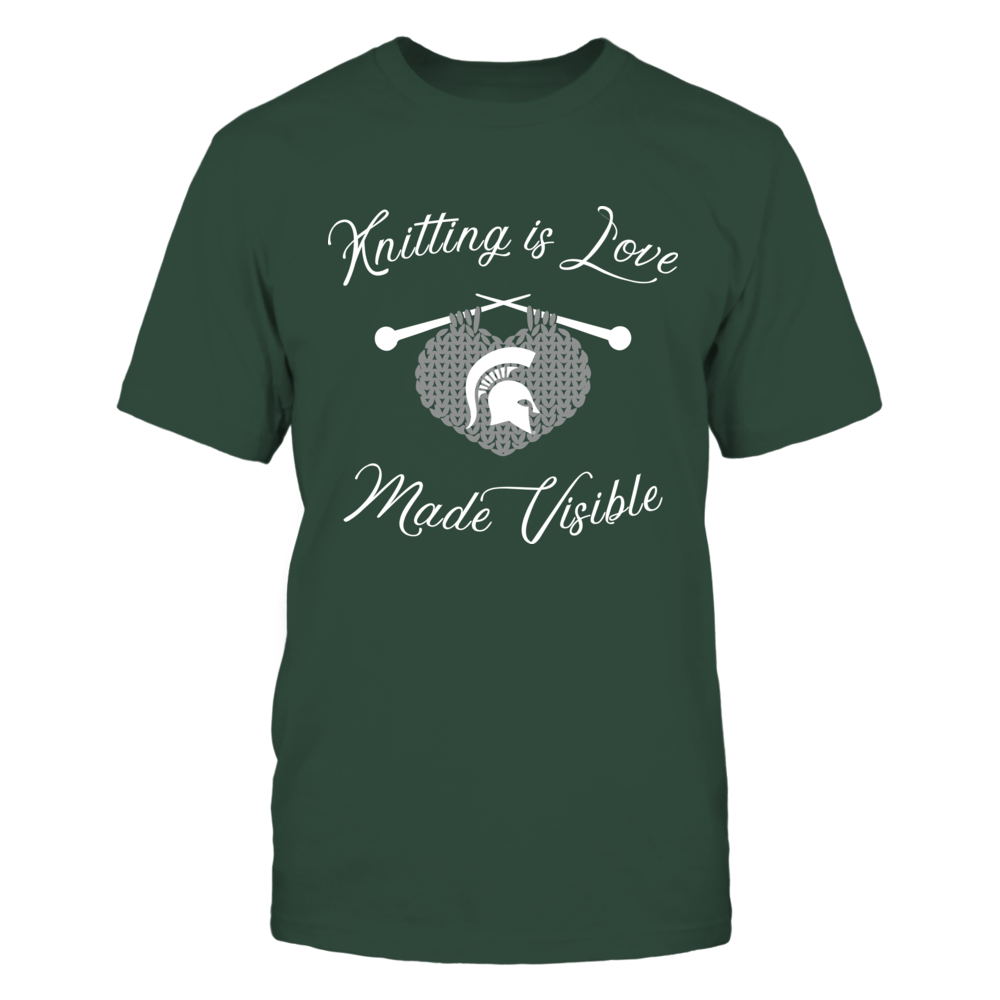 Michigan State Spartans - Knitting - Knitting Is Love Front picture