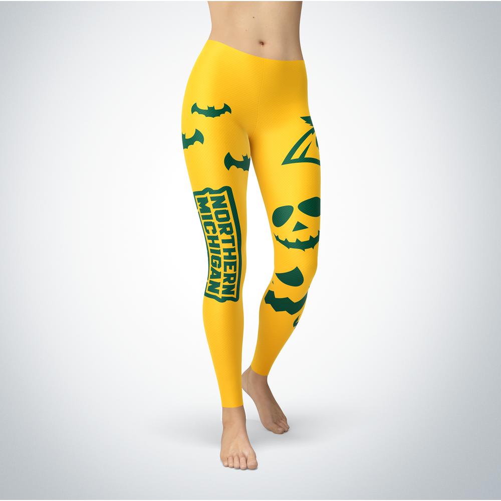 Halloween Design - Northern Michigan Wildcats - Leggings Front picture