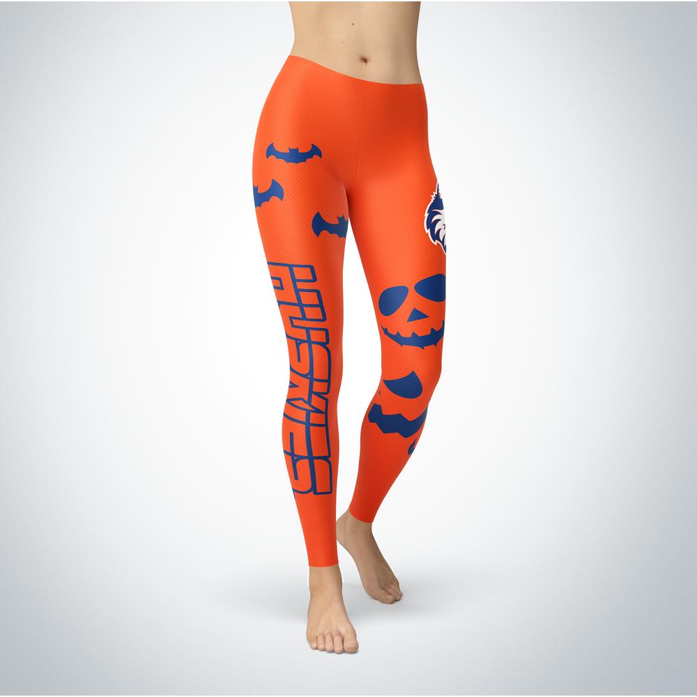 Halloween Design - Houston Baptist Huskies - Leggings Front picture