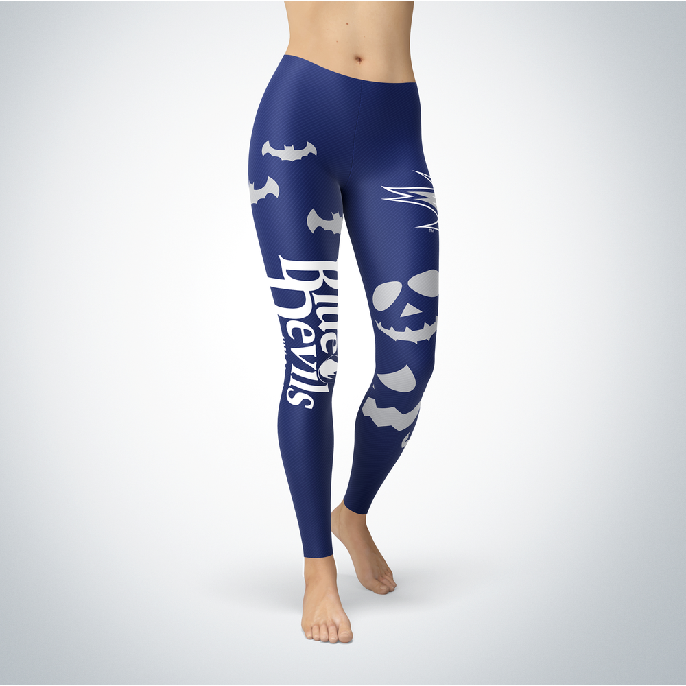 Halloween Design - Wisconsin Stout Blue Devils - Leggings Front picture