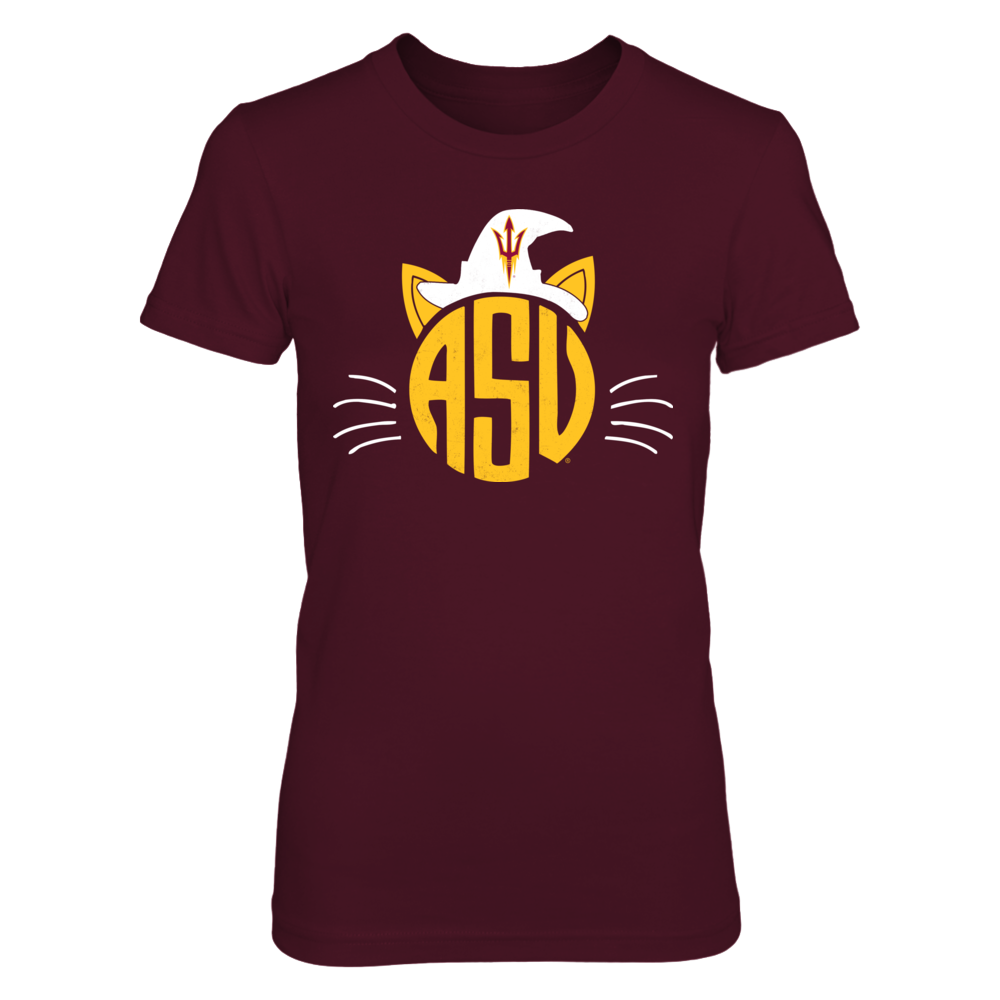 Arizona State Sun Devils - Cat Face Halloween Front picture