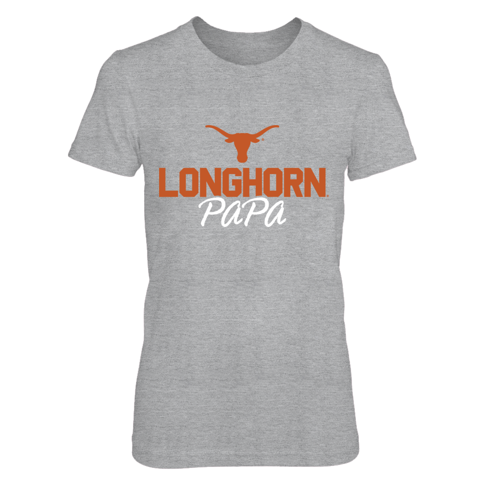 Texas Longhorns Papa T-Shirt T-Shirt | Tank Front picture