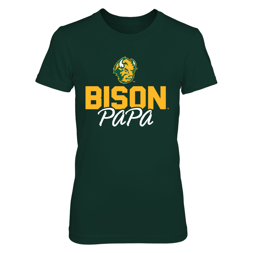 North Dakota State Bison Papa T-Shirt T-Shirt | Tank Front picture