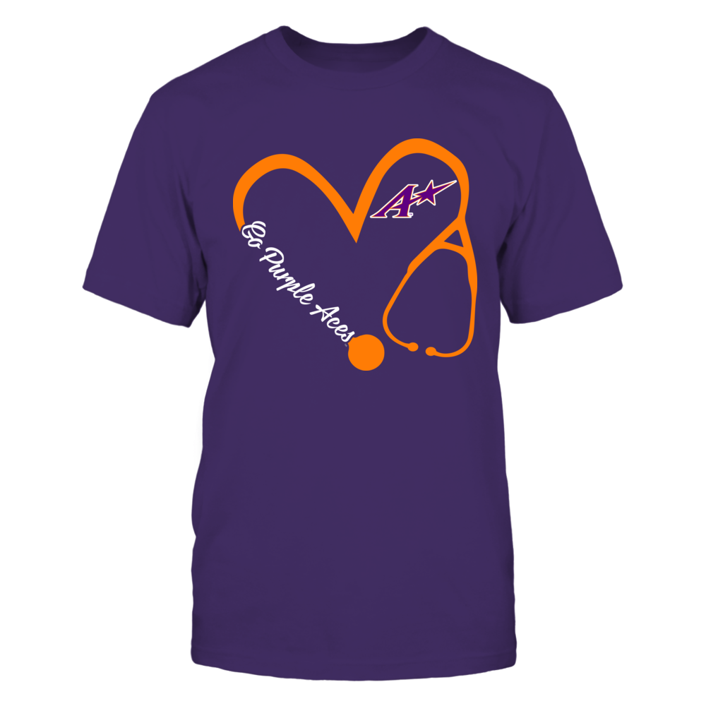 Evansville Purple Aces - Heart 3/4 - Nurse Front picture