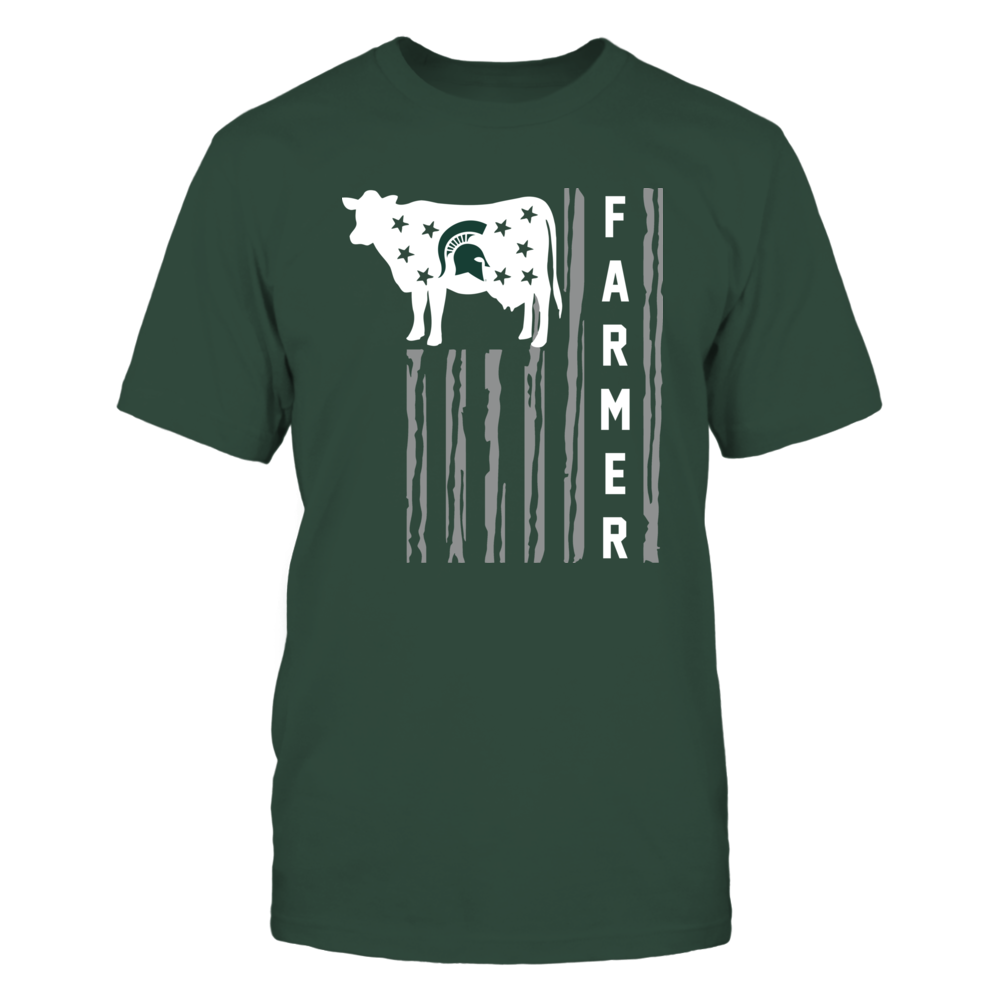 Michigan State Spartans - Farmer - Cow Flag Front picture