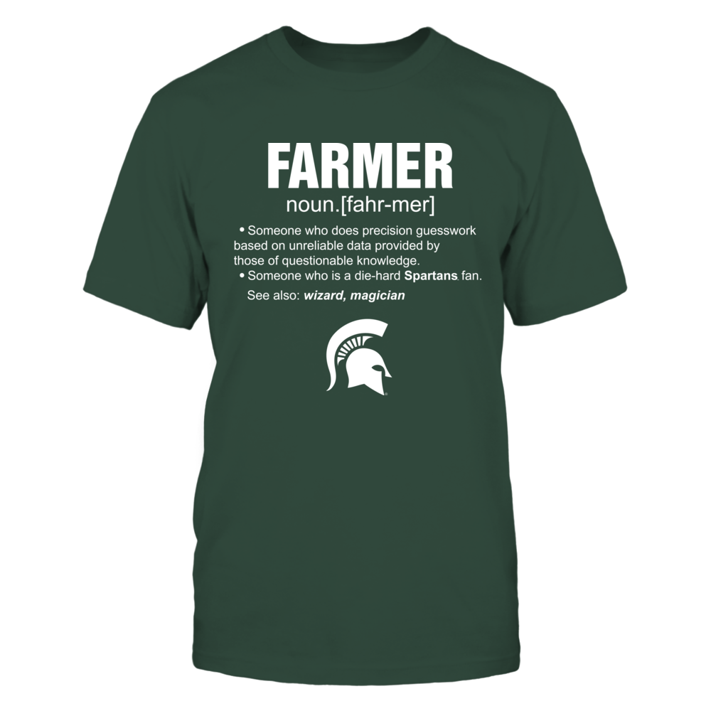 Michigan State Spartans - Farmer - Farmer Definition Front picture