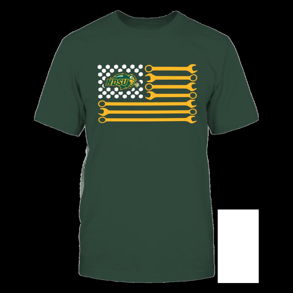 North Dakota State Bison - Mechanic - Mechanic Team Flag Front picture
