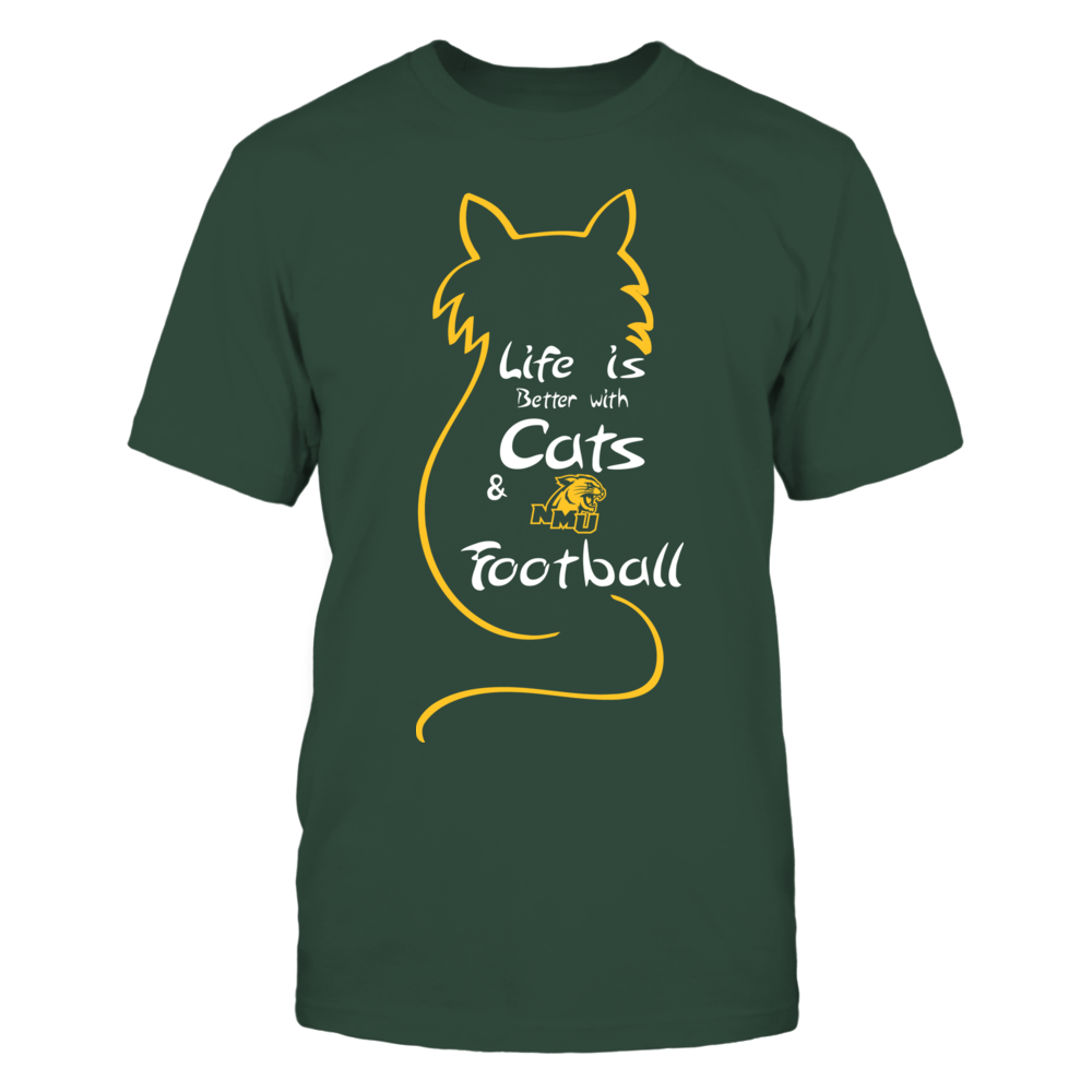 Northern Michigan Wildcats - Life Is Better With Cats And Football Front picture