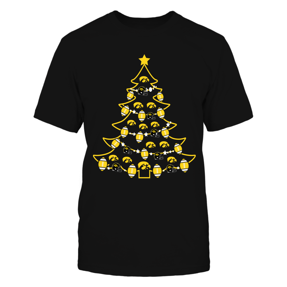 Iowa Hawkeyes - Christmas - Football Xmas Tree Front picture