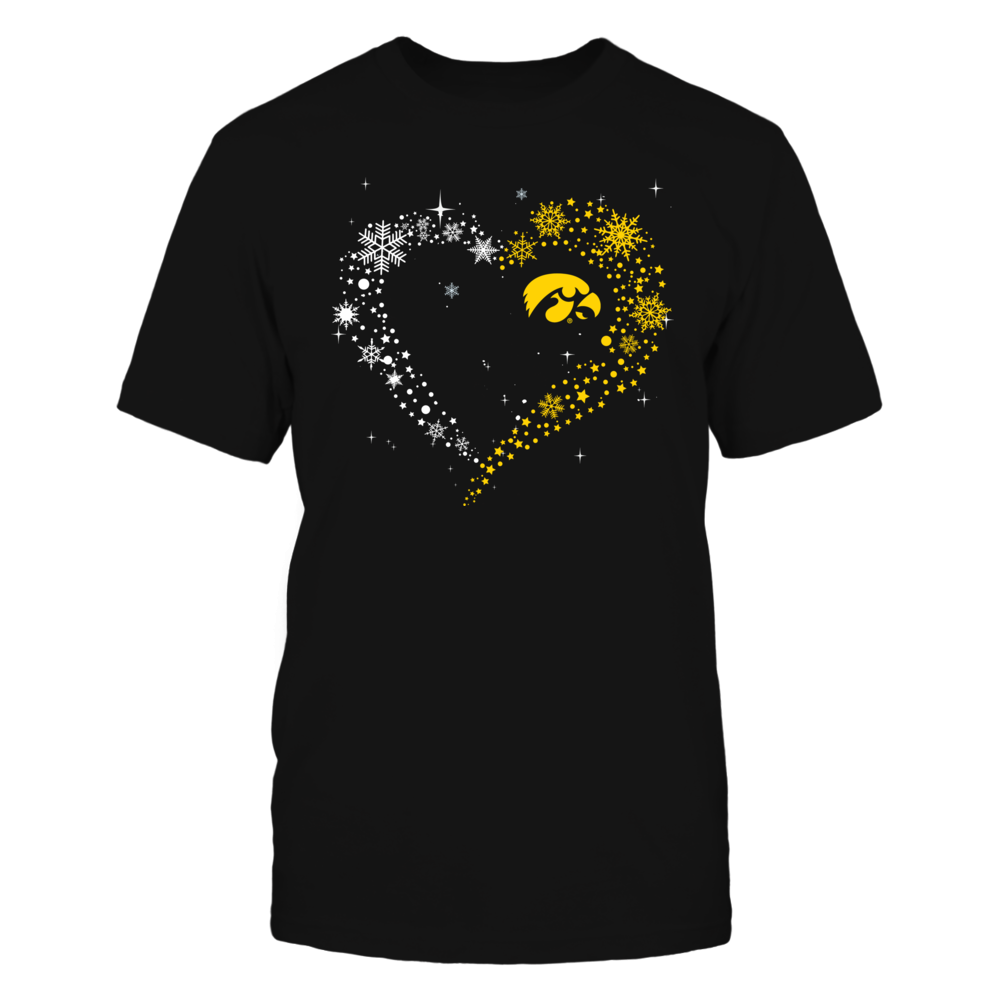 Iowa Hawkeyes - Christmas - Half Heart - Snowflake Front picture