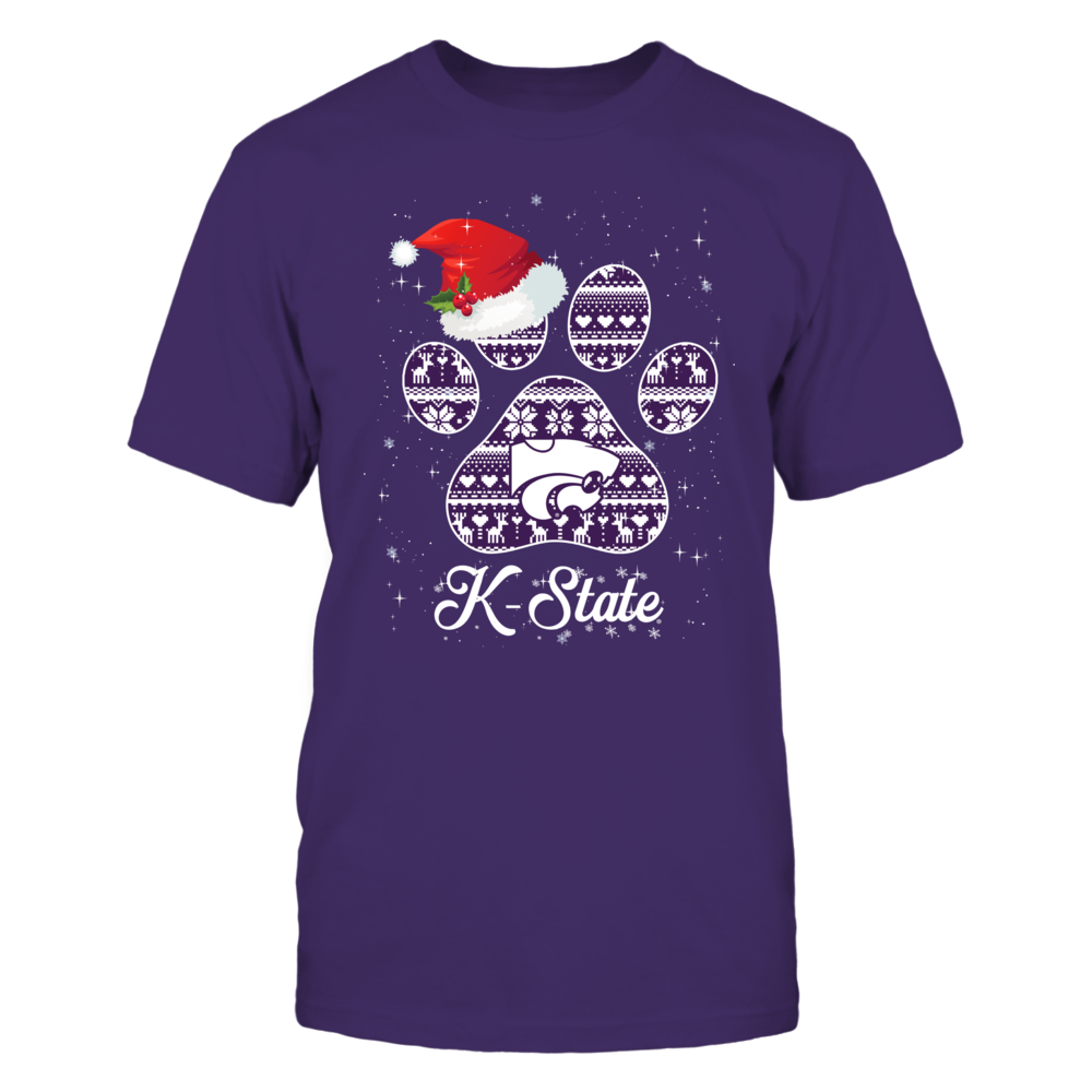 Kansas State Wildcats - Christmas - Christmas Pattern Paw Front picture