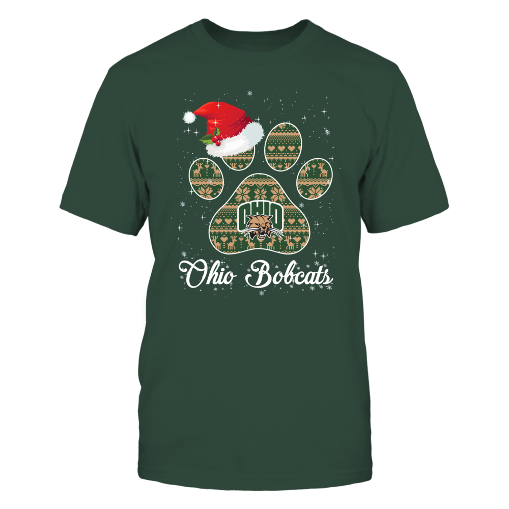 Ohio Bobcats - Christmas - Christmas Pattern Paw Front picture