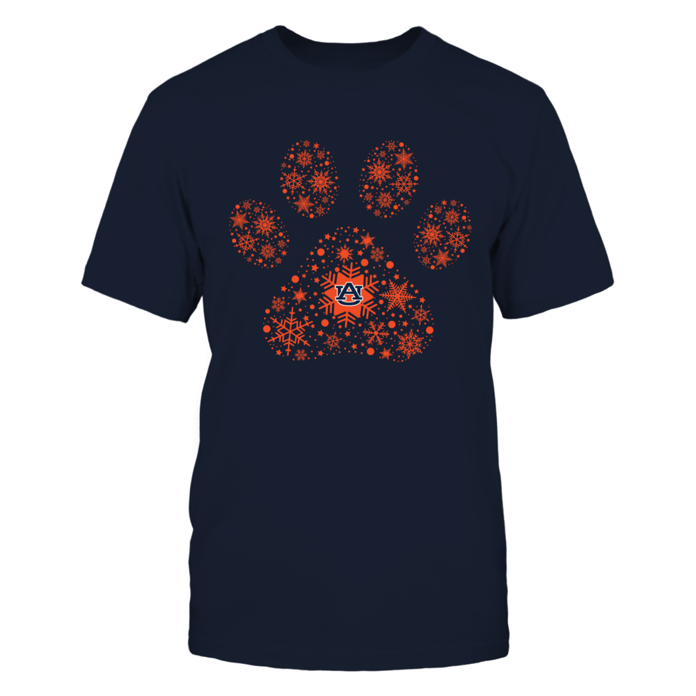Auburn Tigers - Christmas - Paw Snowflake Front picture