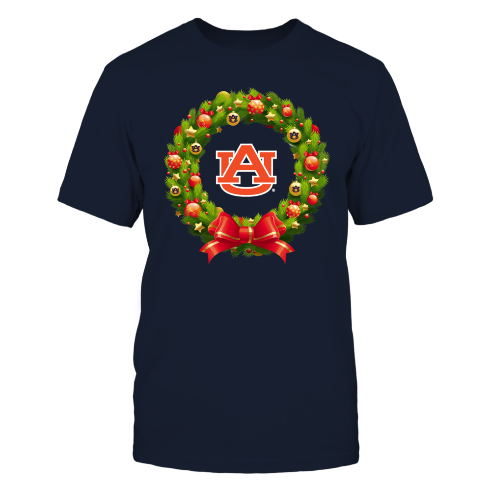 Auburn Tigers - Christmas Wreath Red Ribbon Front picture