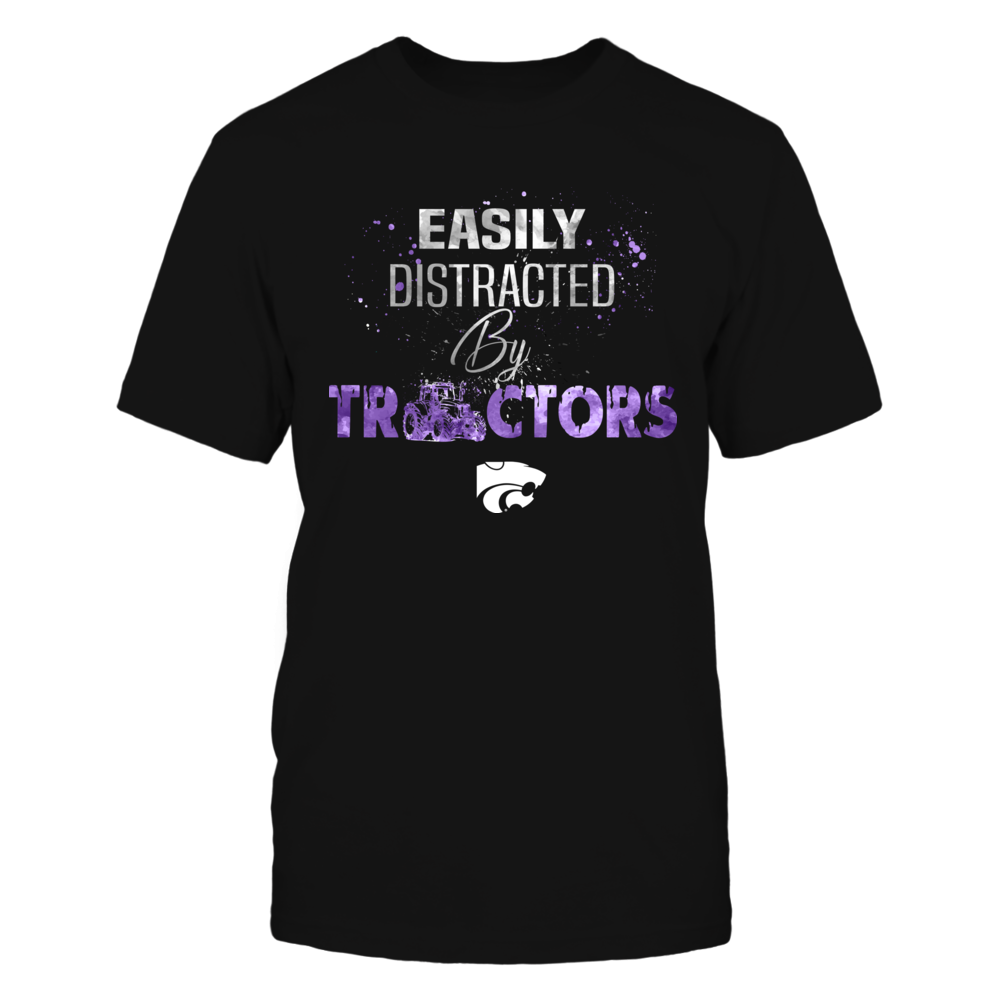 Kansas State Wildcats - Farmer - Tractor Color Drop Slogan Front picture