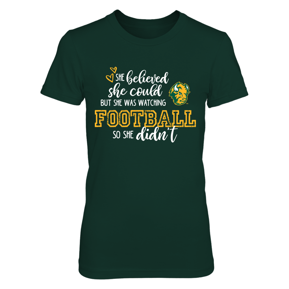 She Believed She Could North Dakota State Bison T-Shirt | Tank Front picture