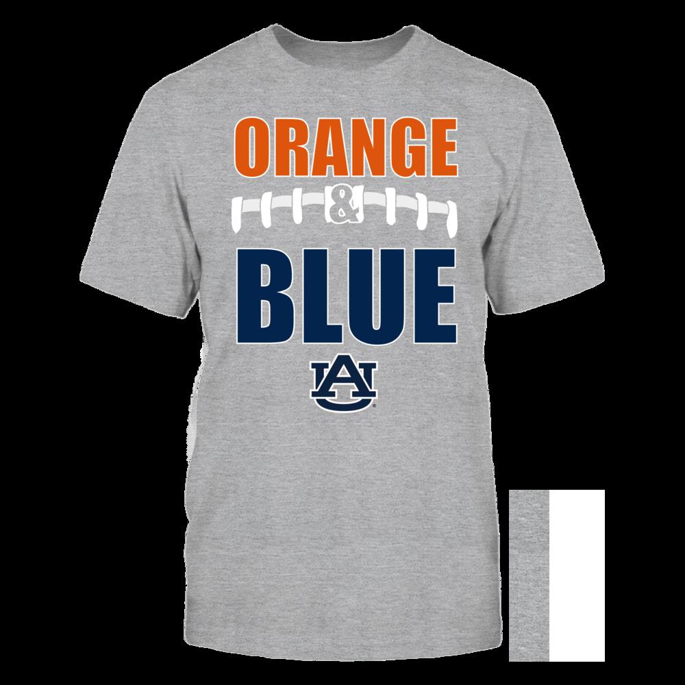 Football Laces - Auburn Tigers (Orange) Front picture
