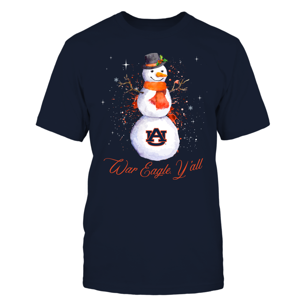 Auburn Tigers - Christmas - Color Drop Snowman Front picture