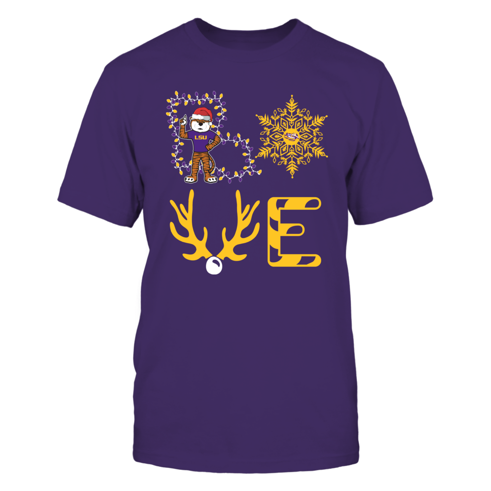 LSU Tigers - Christmas - Stacked Love - State Mascot Front picture