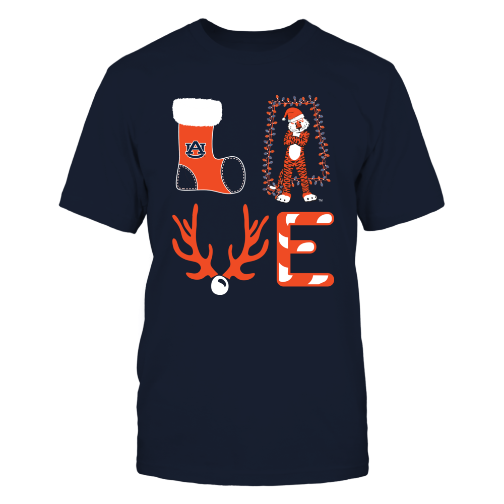 Auburn Tigers - Christmas - Stacked Love - State Mascot Front picture