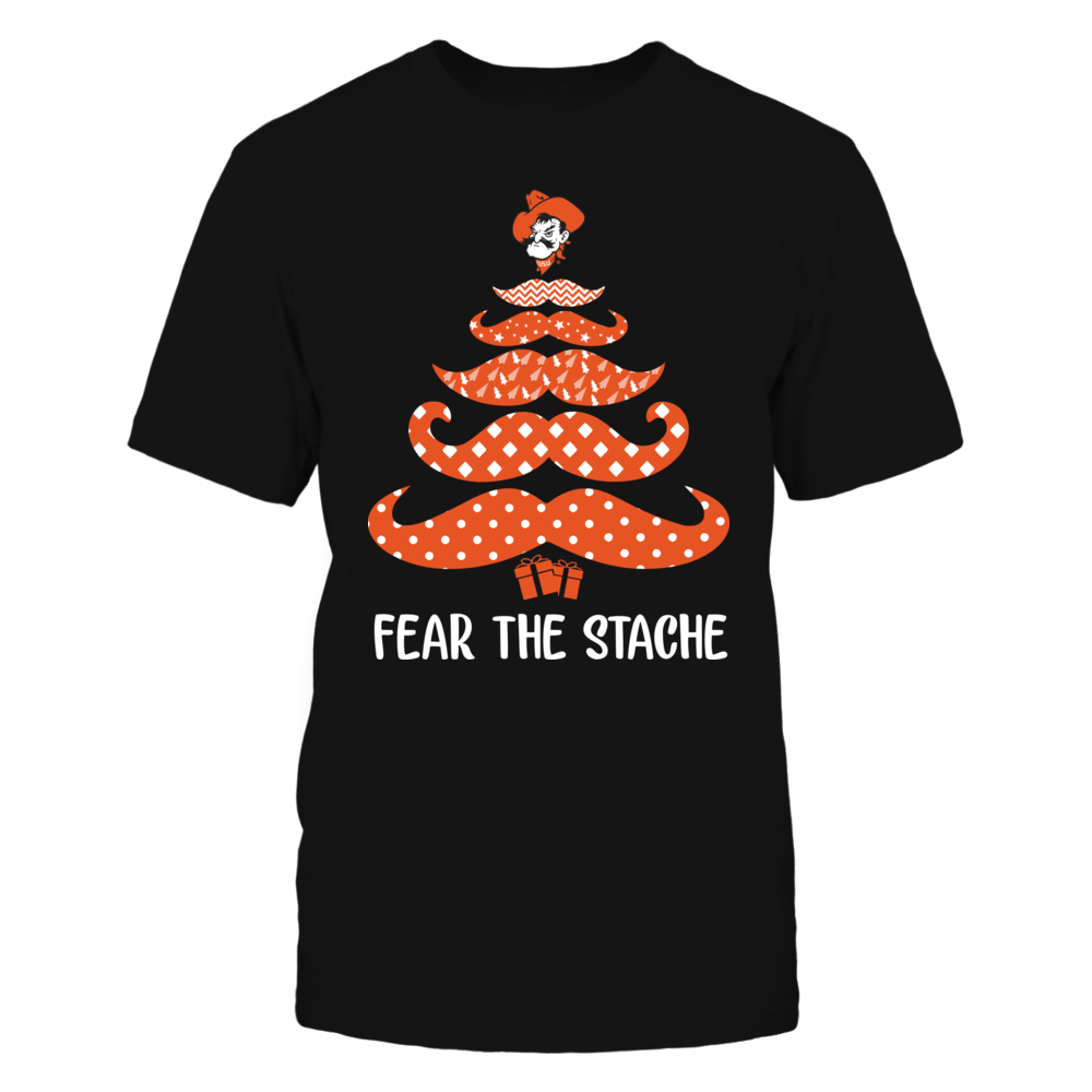 Oklahoma State Cowboys - Mustache Christmas Tree Front picture