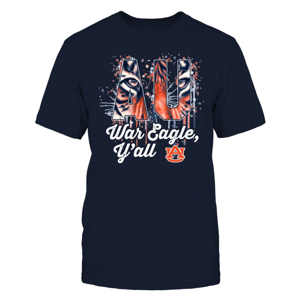 Auburn Tigers - War Eagle Y'All - Color Drop Tiger Pattern Team Name Front picture