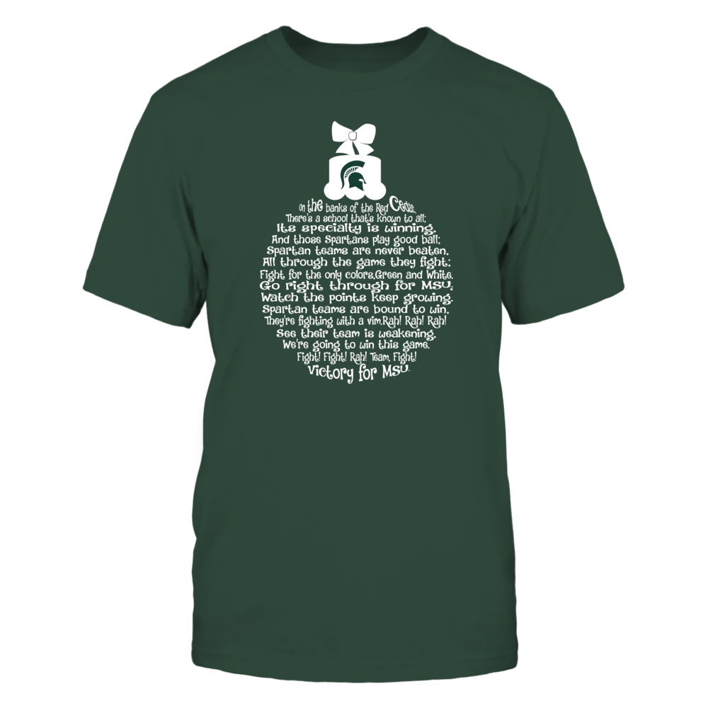 Michigan State Spartans - Fight Song Inside Christmas Bauble Front picture