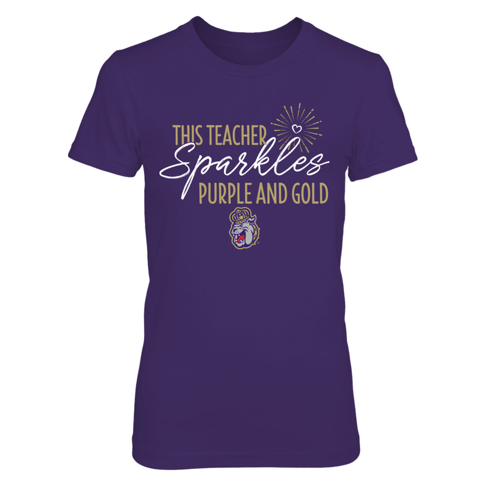 This Teacher Sparkles James Madison Dukes T-Shirt | T-Shirt Front picture