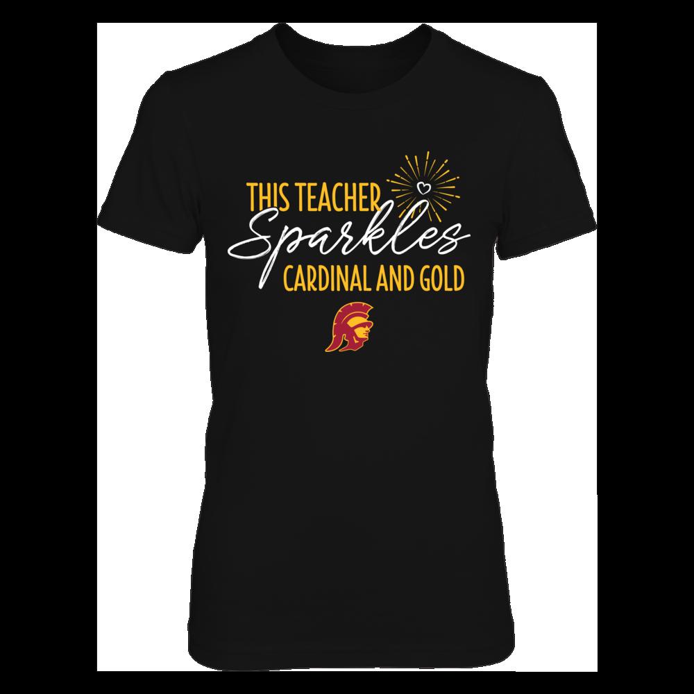 This Teacher Sparkles USC Trojans Colors T-Shirt | Tank Front picture