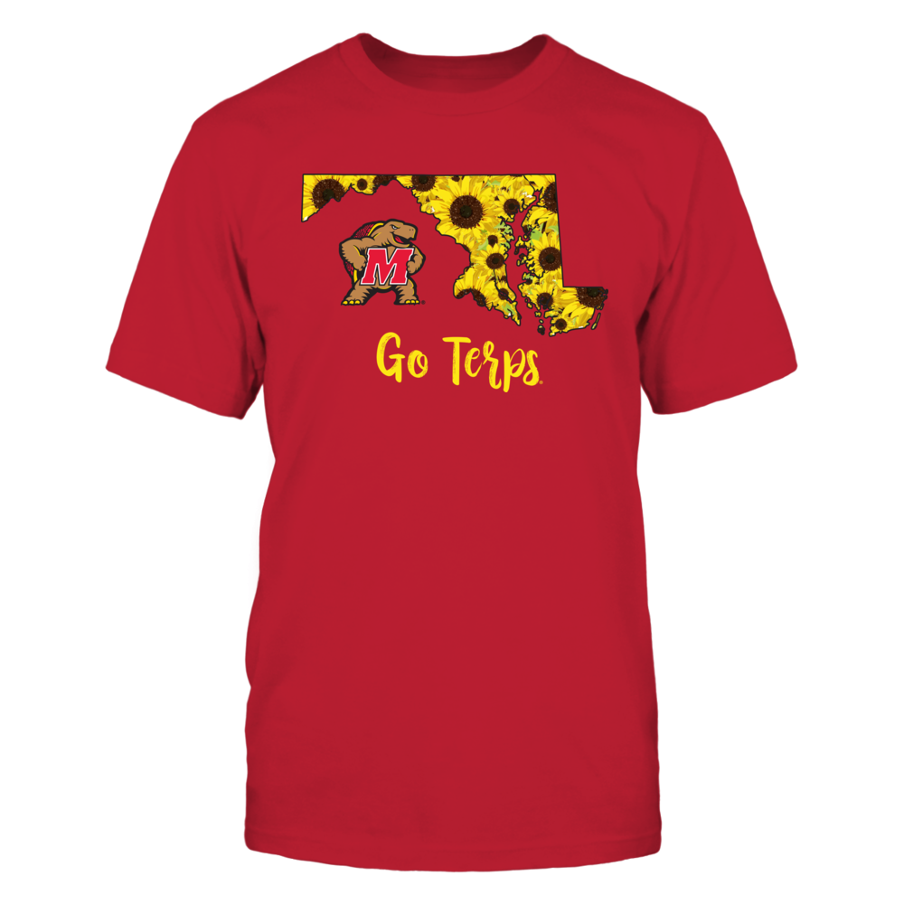 Maryland Terrapins - State Flower Pattern Map Front picture