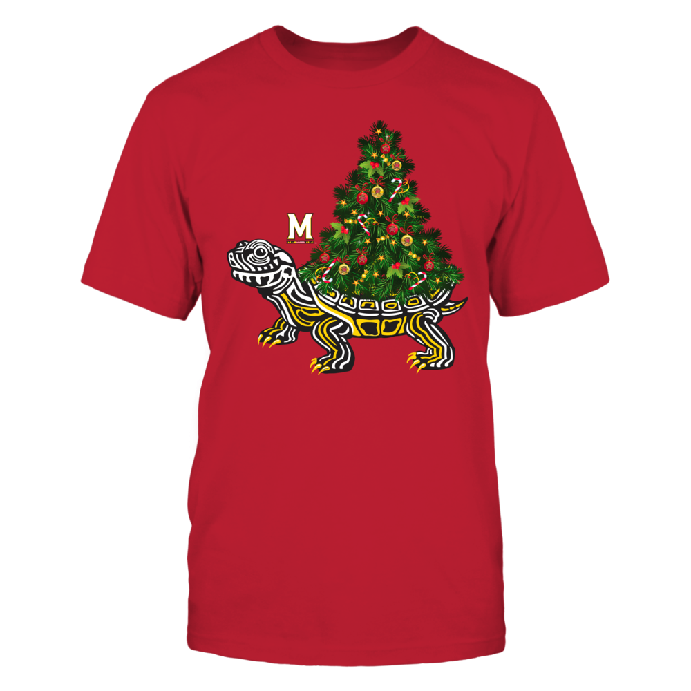 Maryland Terrapins - Christmas - Christmas Tree On Turtle Front picture