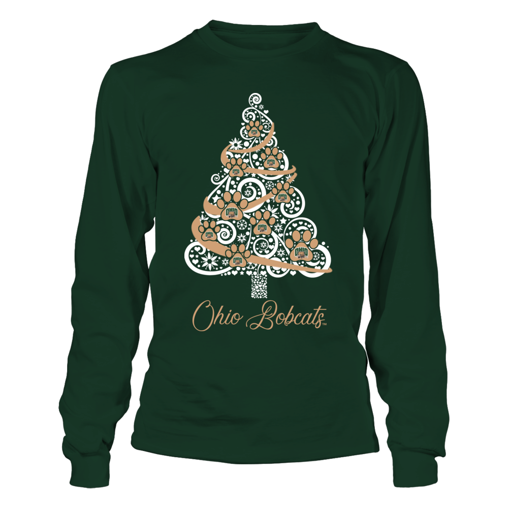 Ohio Bobcats - Paw Logo Christmas Tree Front picture