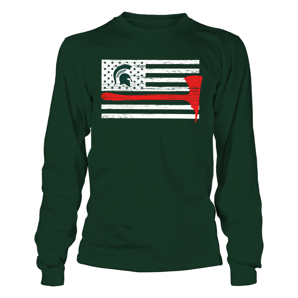 Michigan State Spartans - Firefighter - Thin Red Line Axe Front picture