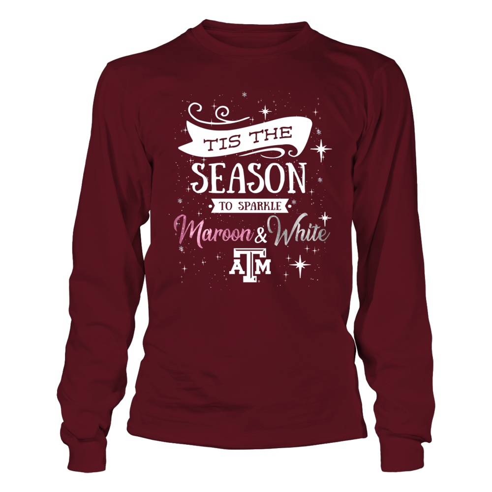 Texas A&M Aggies - Christmas - 'Tis The Season To Sparkle Team Colors Front picture