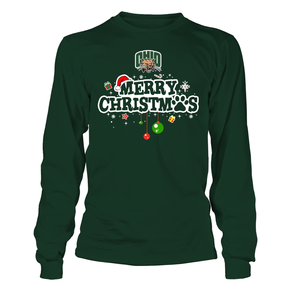 Ohio Bobcats - Merry Christmas - Paw Front picture