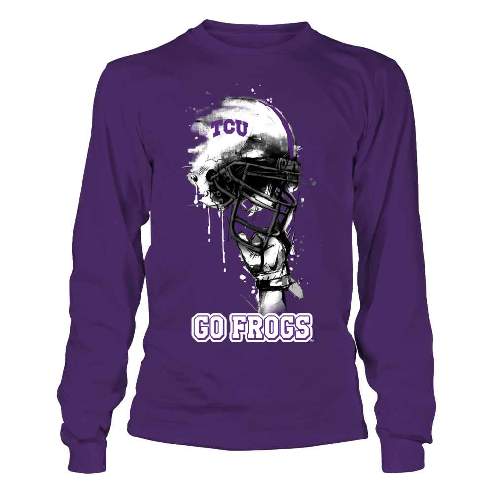 TCU Horned Frogs - Rising Helmet Front picture