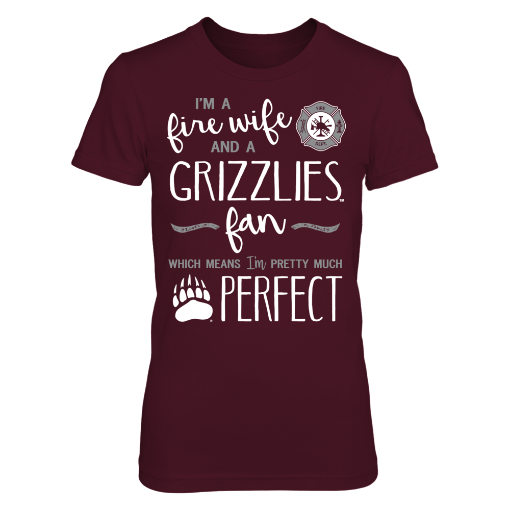 Perfect Fire Wife Montana Grizzlies Fan T-Shirt   Tank Front picture