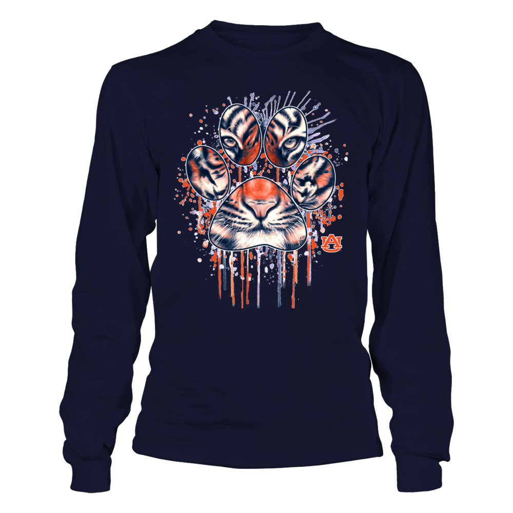 Auburn Tigers - Color Drop Tiger Inside Paw Front picture